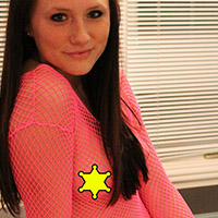 Freckly Teen Freckles In A Hot Pink Mesh Dress. No Bra. No Pasties. Pure Teen. - Picture 8