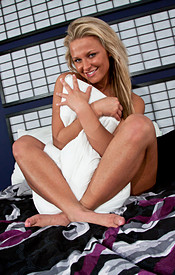 Busty Teen Kendra Rain In Bed Paying With Her Natural Boobs - Picture 13