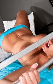 That Crazy Kendra Is Back And Getting Wild On The Bunk Beds. Check Out This Hottie Showing Off Her Big Firm Boobs! - Picture 12