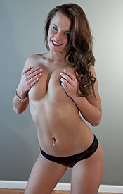 Teen Kendra Looks Amazing In This Tight Little Black Dress With Her Big Natural Tits Just Waiting To Bust Out Of - Picture 16