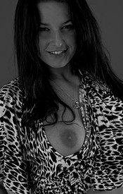 Kendra Rains In Black And White And Looking Sexy As Hell In Her Leopard Dress - Picture 10
