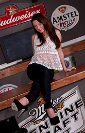 Kendra Is Ready To Kick Off The New Year Right. Dark Hair, Banging Body And Tight Tight Tight Tight Jeans - Picture 1