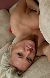 Kendra Comfy On The Couch In A Tight Zip Up With No Bra On And Tight Jean Shorts - Picture 15