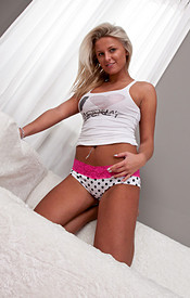 Kendra Rain All Natural Boobs In A Tank Top And Panties - Picture 2