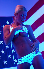 Madden Is Psychedelic In Her Polka Dot Bikini Wishing Everyone A Happy 4th Of July - Picture 11