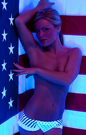Madden Is Psychedelic In Her Polka Dot Bikini Wishing Everyone A Happy 4th Of July - Picture 12