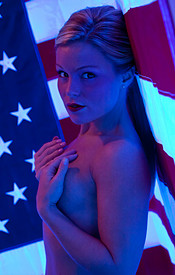 Madden Is Psychedelic In Her Polka Dot Bikini Wishing Everyone A Happy 4th Of July - Picture 13