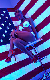 Madden Is Psychedelic In Her Polka Dot Bikini Wishing Everyone A Happy 4th Of July - Picture 5