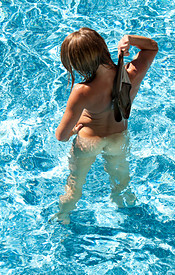 Madden Gets Naked In The Pool And Relaxes In The Water - Picture 10