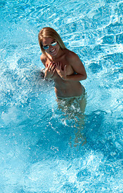 Madden Gets Naked In The Pool And Relaxes In The Water - Picture 8