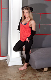 Meet Madden Wearing A Thin Red Tank Sans Bra And Lets Her Hard Nipples Show - Picture 3