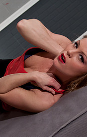 Meet Madden Wearing A Thin Red Tank Sans Bra And Lets Her Hard Nipples Show - Picture 4