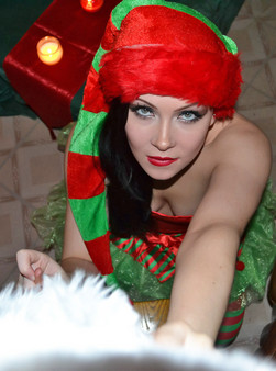 Merry Christmas From The Naughty Elf Sabrina Sins - Picture 5