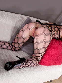 Sabrina Sins In Full On Body Mesh And Doin Work With Her Hitachi - Picture 10