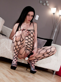 Sabrina Sins In Full On Body Mesh And Doin Work With Her Hitachi - Picture 14