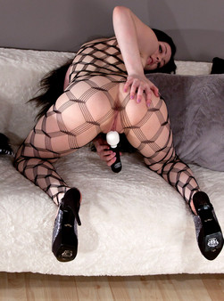 Sabrina Sins In Full On Body Mesh And Doin Work With Her Hitachi - Picture 15