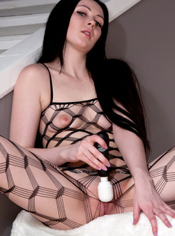 Sabrina Sins In Full On Body Mesh And Doin Work With Her Hitachi - Picture 16