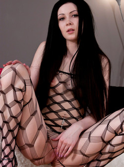 Sabrina Sins In Full On Body Mesh And Doin Work With Her Hitachi - Picture 3