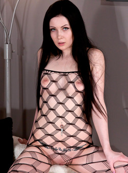 Sabrina Sins In Full On Body Mesh And Doin Work With Her Hitachi - Picture 6
