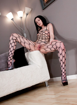 Sabrina Sins In Full On Body Mesh And Doin Work With Her Hitachi - Picture 7