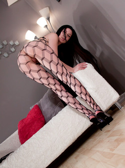 Sabrina Sins In Full On Body Mesh And Doin Work With Her Hitachi - Picture 8