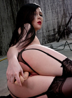 Sabrina Gets Frisky On The Cold Concrete Fucking Herself With Her Dildo - Picture 16