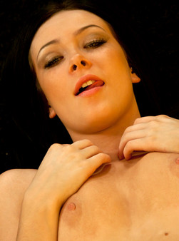 Sabrina Sins In Her Little Orange Bikini Showing Off Her Teenage Pussy - Picture 13