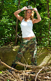 Happy 4th Of July From Nikki. Check Her Out In Fatigues And Boobs Busting Out Of Her Bikini - Picture 1