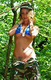 Happy 4th Of July From Nikki. Check Her Out In Fatigues And Boobs Busting Out Of Her Bikini - Picture 11