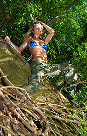 Happy 4th Of July From Nikki. Check Her Out In Fatigues And Boobs Busting Out Of Her Bikini - Picture 4