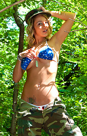 Happy 4th Of July From Nikki. Check Her Out In Fatigues And Boobs Busting Out Of Her Bikini - Picture 8