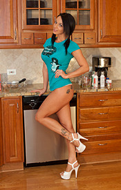 Naturally Busty Nikki Bakin In The Kitchen And Getting Batter Everywhere - Picture 1