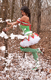 Nikki The Naked Elf In The Woods Wishes You A Merry Christmas - Picture 4