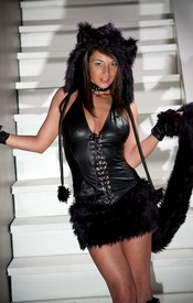 Nikki Is A Bad Kitty But Bad Kittys Need Love Too! Check Out The Hottie Nikki Sims In Her Costume For Halloween - Picture 1