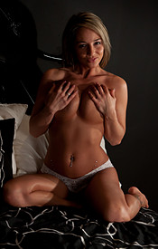 No Bra And Nips Popping Out Of Nikkis White Sheer Baby Doll - Picture 15