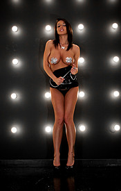 Black Sparkly Dress And Pasties With No Panties On For Nikki Sims New Years Eve Outfit - Picture 8