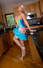 Nikki Looking Sexy And Fun In Her Rainbow Corset And Tutu - Picture 12