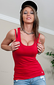 Nikki Sims Is Busting Out Of Her Red Tank And Looking Sexy As Hell In Her Hat - Picture 1