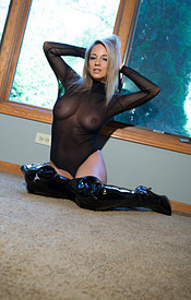 Nikki Sims Is All Naked Under Her Sheer Onesie - Picture 5