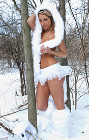 Nikki Is So Hot In Her Snow Wolf Outfit She Can Melt All The Snow - Picture 14