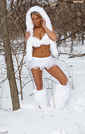 Nikki Is So Hot In Her Snow Wolf Outfit She Can Melt All The Snow - Picture 2