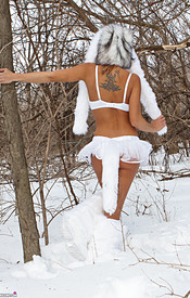 Nikki Is So Hot In Her Snow Wolf Outfit She Can Melt All The Snow - Picture 5