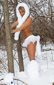 Nikki Is So Hot In Her Snow Wolf Outfit She Can Melt All The Snow - Picture 9