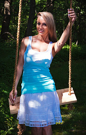 Nikki Sims Having Some Fun On The Swing And Getting Naked - Picture 2