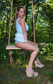 Nikki Sims Having Some Fun On The Swing And Getting Naked - Picture 4