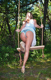 Nikki Sims Having Some Fun On The Swing And Getting Naked - Picture 5