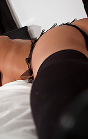 Nikki In Turquoise And Black Lingerie - Picture 14